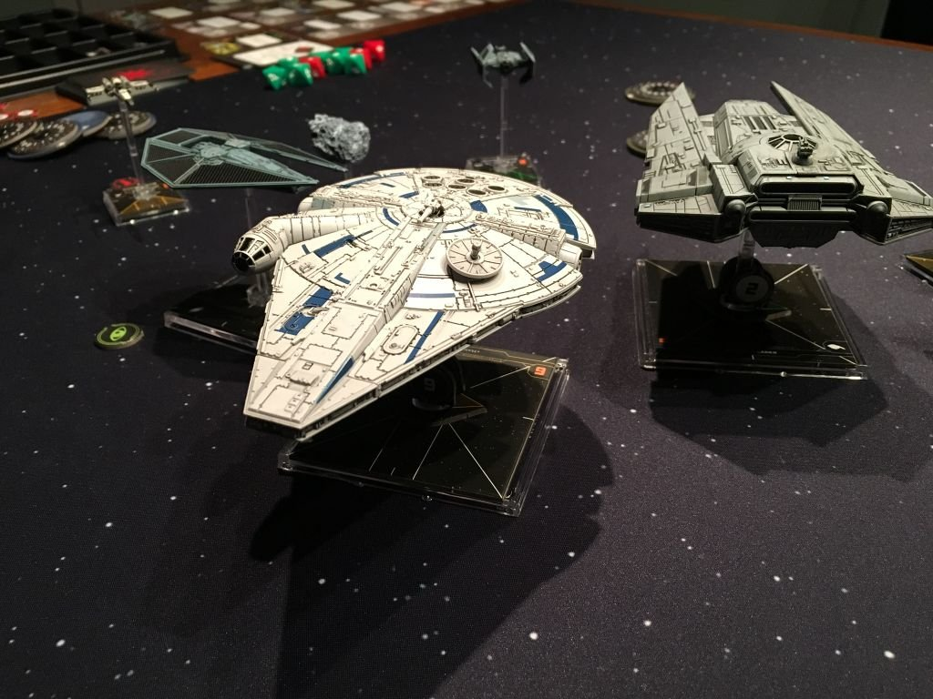 Star Wars: X-Wing (Second Edition) - Lando's Millennium Falcon Expansion Pack miniatures