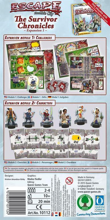 Escape: Zombie City - The Survivor Chronicles back of the box