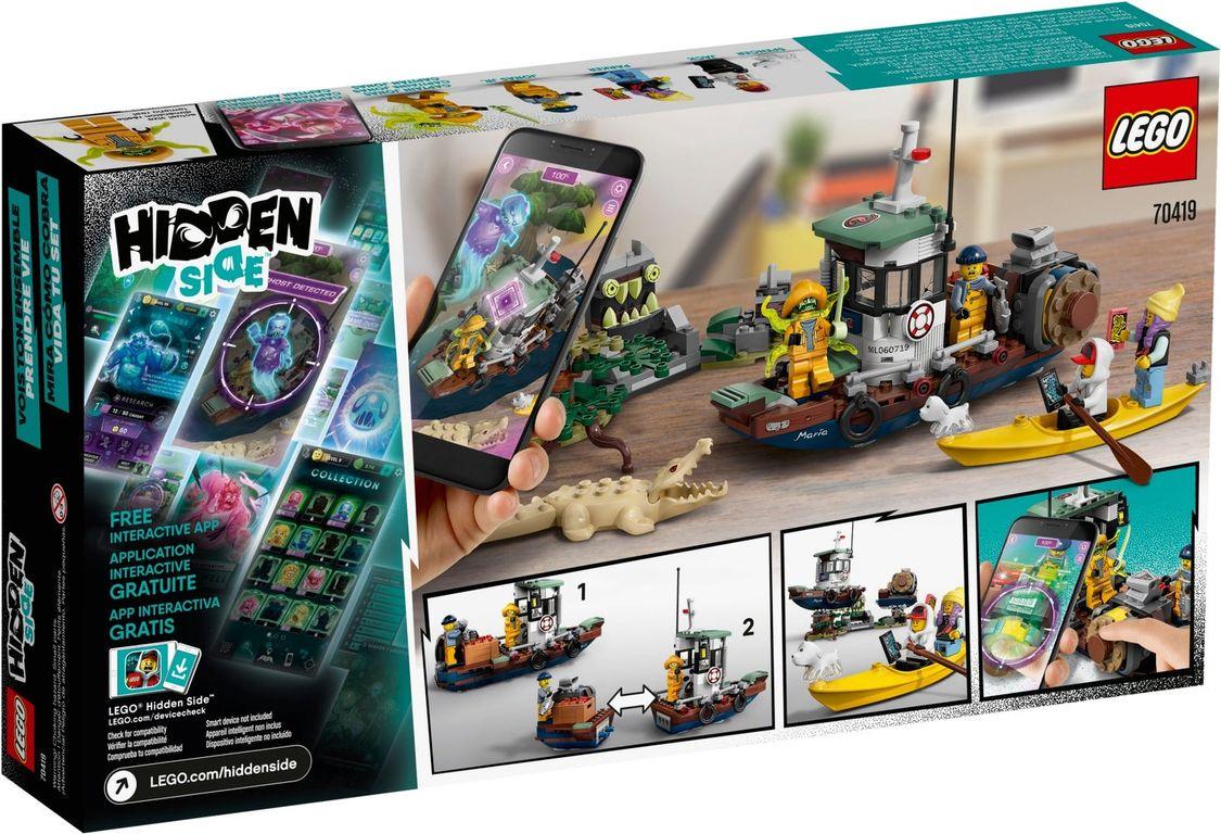 LEGO® Hidden Side Wrecked Shrimp Boat back of the box