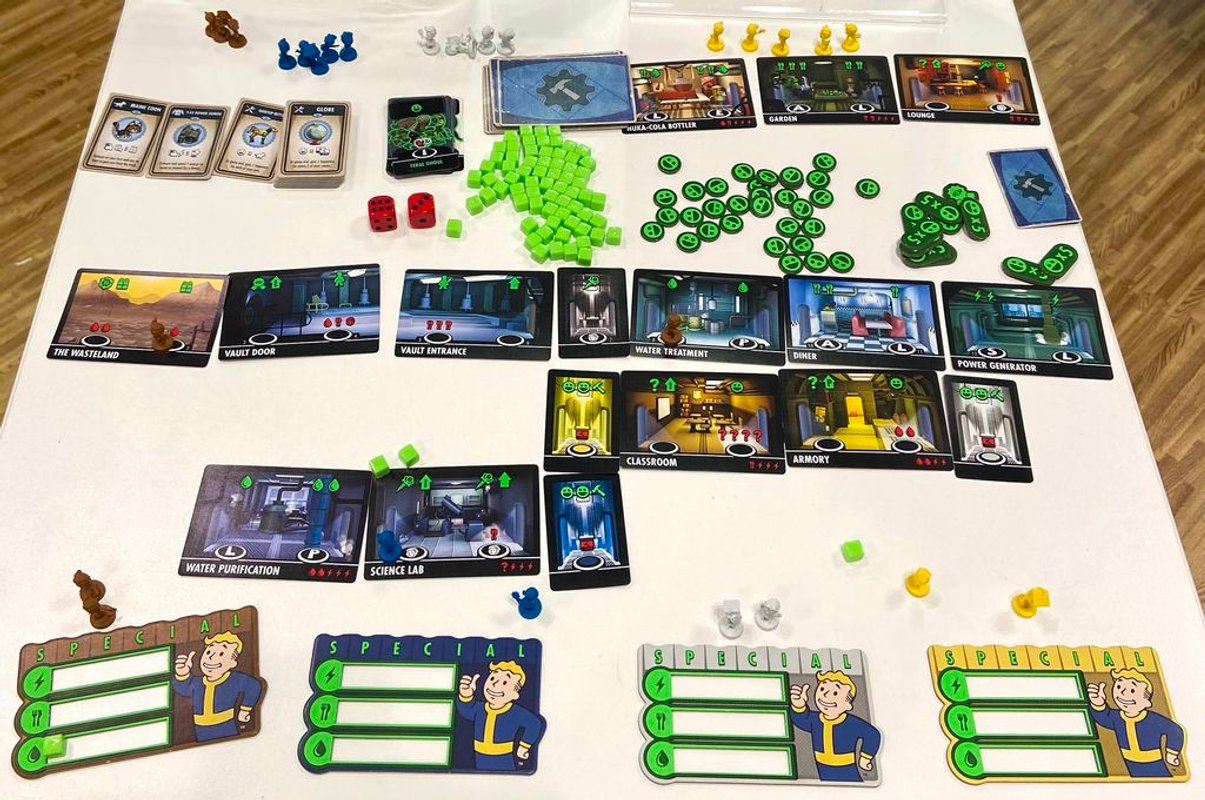 Fallout Shelter: The Board Game components