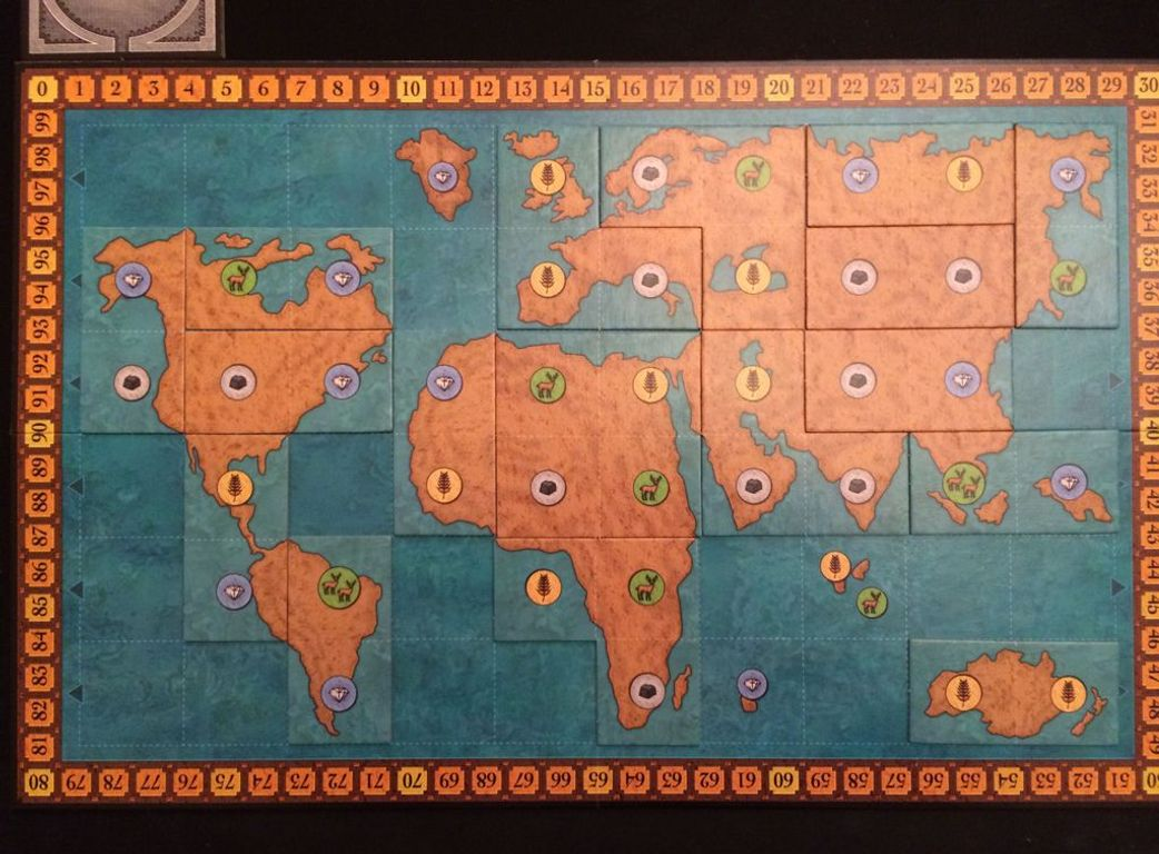 The Golden Ages game board