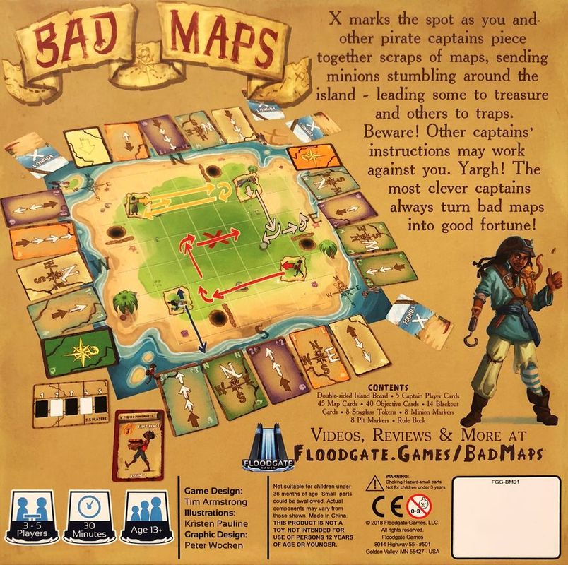 Bad Maps back of the box