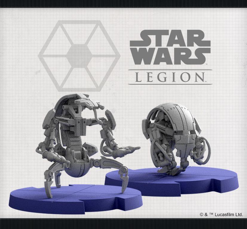 Star Wars: Legion – Droidekas Unit Expansion miniatures