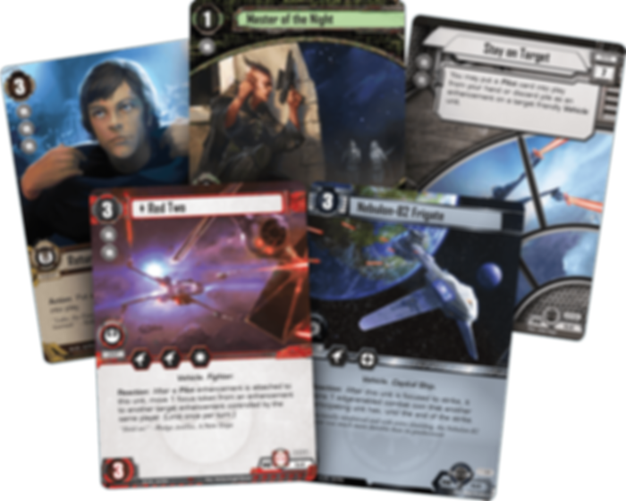 Star Wars: The Card Game - Meditation and Mastery cards