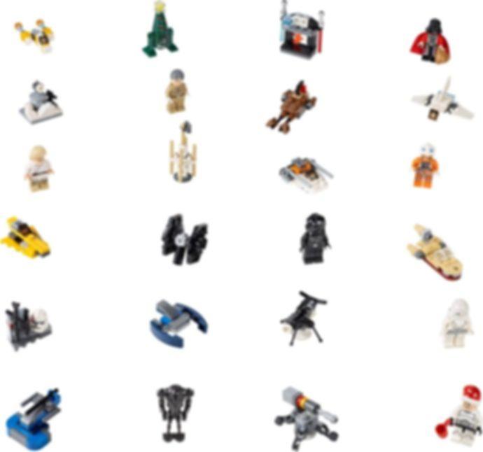 LEGO® Star Wars Advent Calendar 2014 components