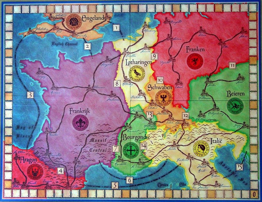 Web of Power game board