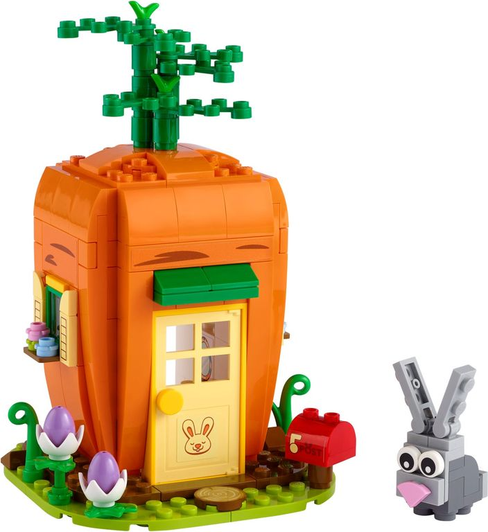 Easter Bunny's Carrot House components