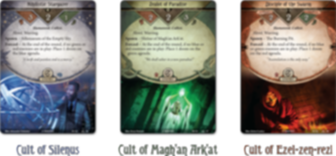 Arkham Horror: The Card Game – War of the Outer Gods: Scenario Pack cards