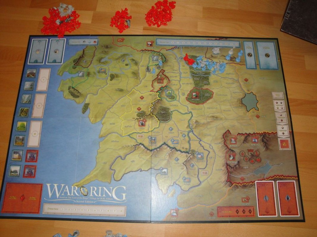 War of the Ring game board