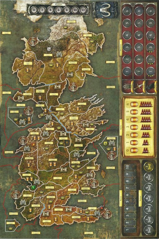 A Game of Thrones: The Board Game (Second Edition) game board