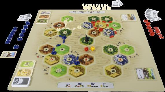 Catan playmat Desert gameplay