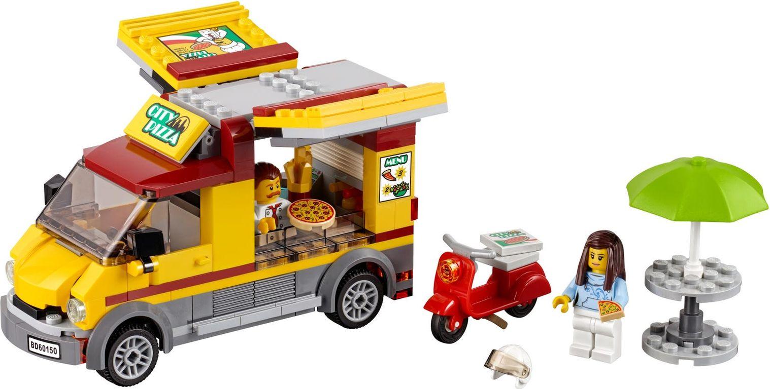 LEGO® City Pizza Van components
