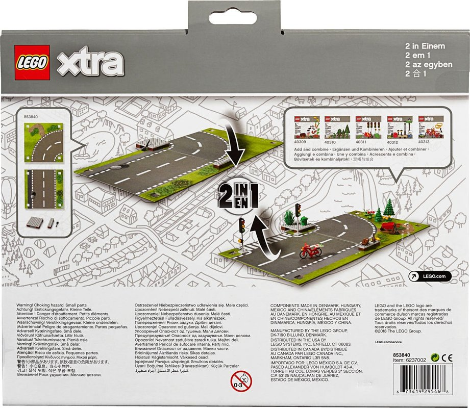 Road Playmat back of the box