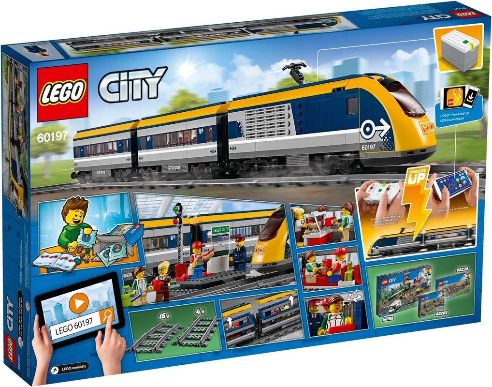 Passenger Train back of the box