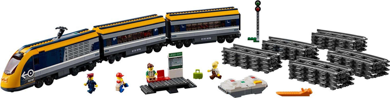 LEGO® City Passenger Train components