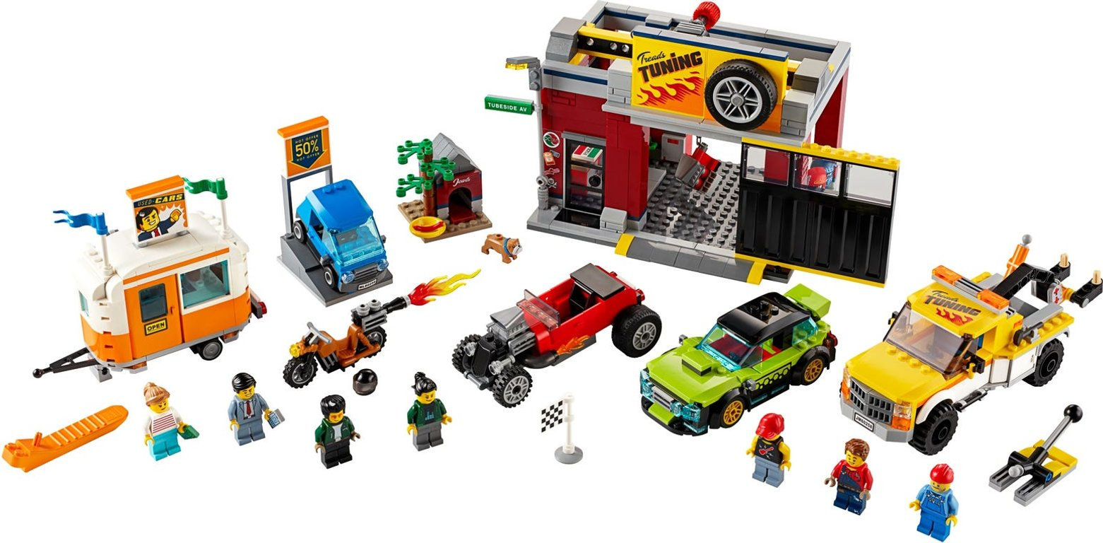 LEGO® City Tuning Workshop components