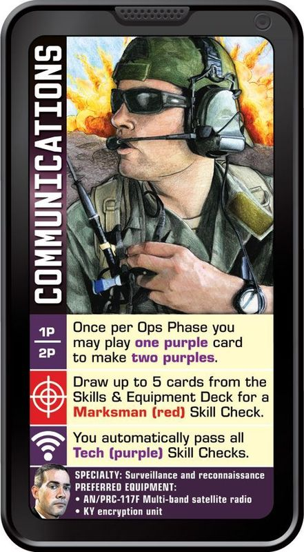 Hooyah: Navy Seals Card Game Communications card