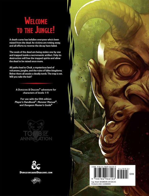 Tomb of Annihilation back of the box