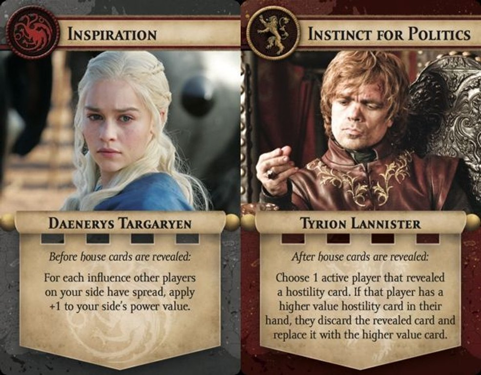 Game of Thrones: The Iron Throne cards