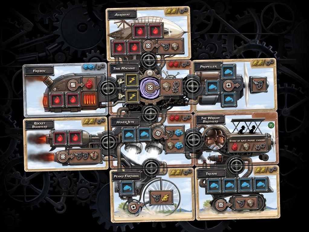 Steampunk Rally cards