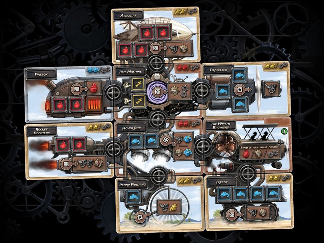 Steampunk Rally carte