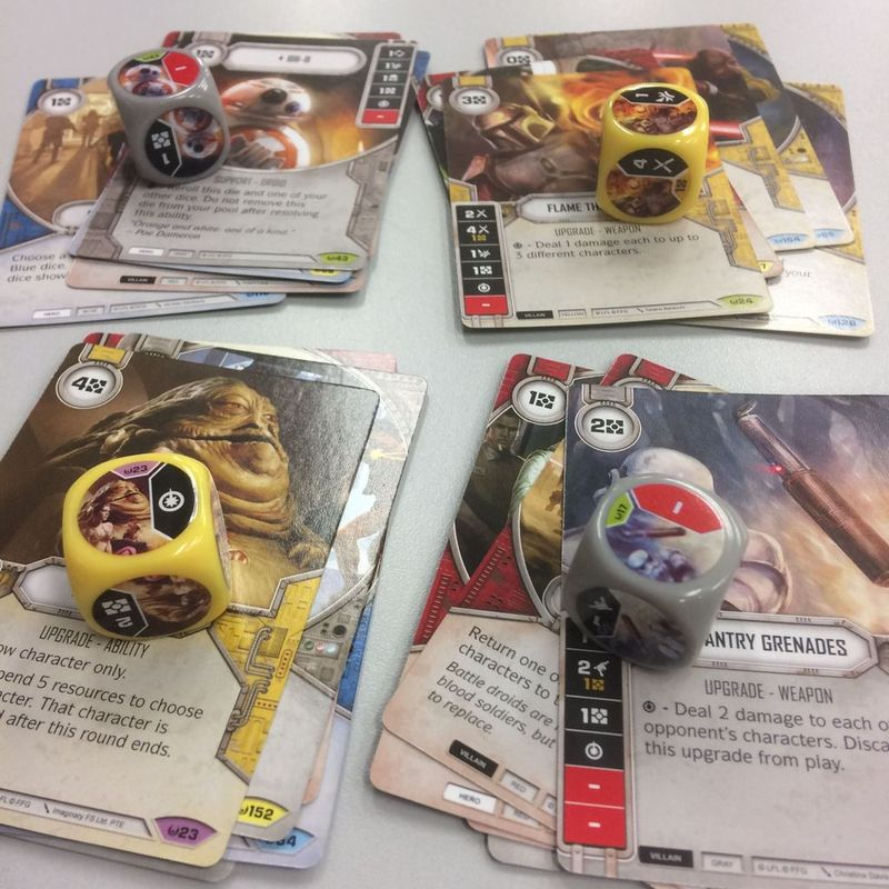 Star Wars: Destiny - Awakenings Booster Pack components