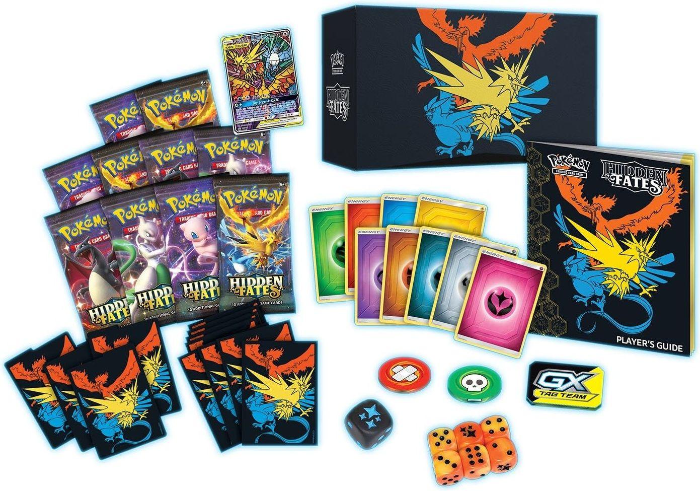 Pokémon TCG: Hidden Fates Elite Trainer Box components