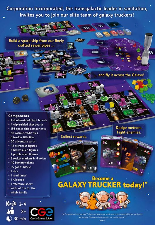 Galaxy Trucker (Remastered Edition) back of the box