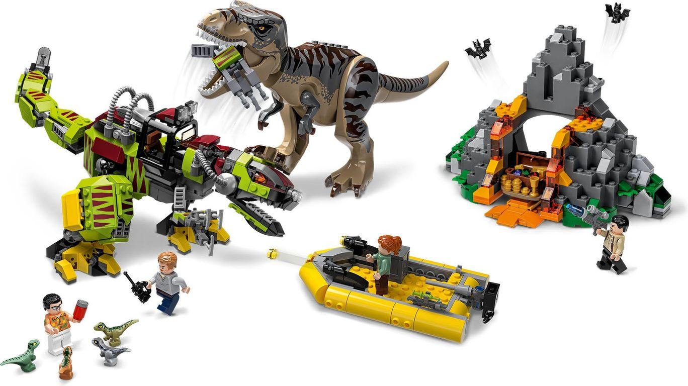 LEGO® Jurassic World T. rex vs Dino-Mech Battle gameplay