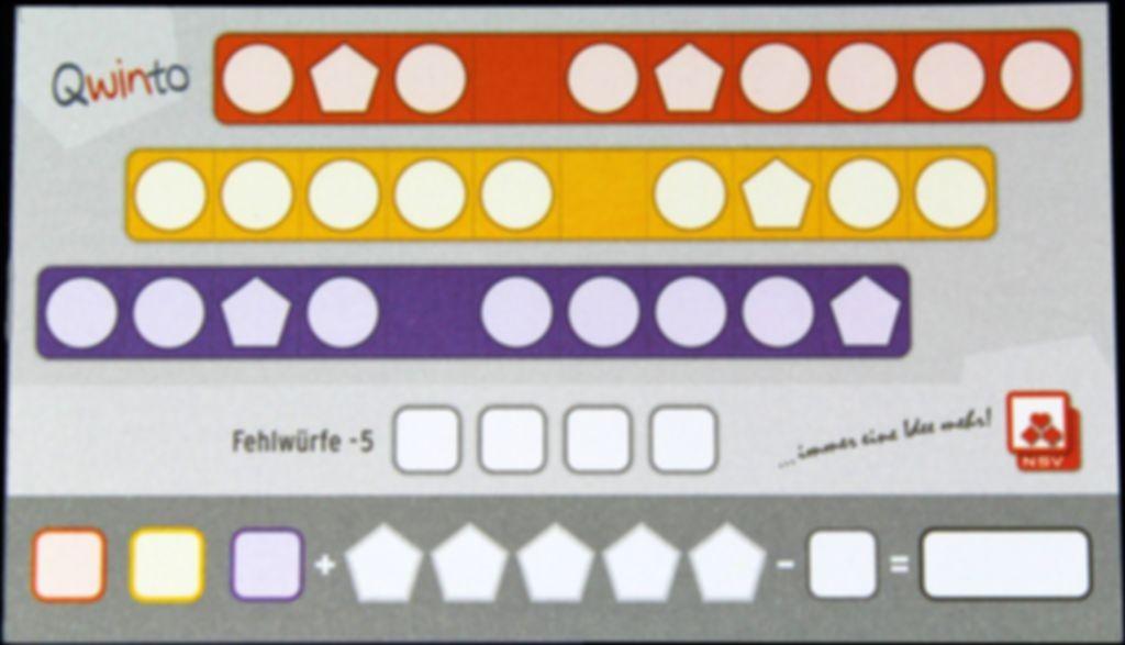 Qwinto game board