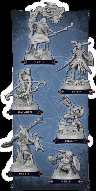 Descent: Legends of the Dark miniatures