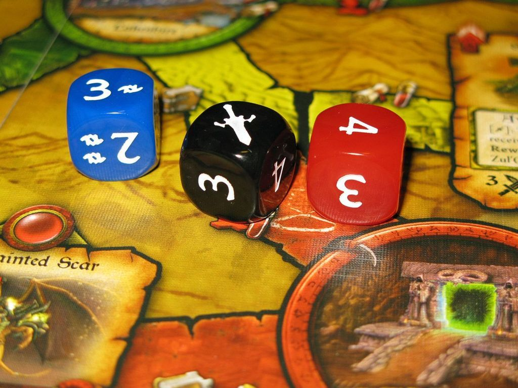 World of Warcraft: The Adventure Game dice