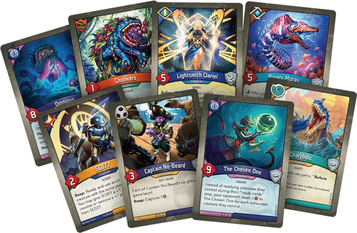 KeyForge: Dark Tidings Archon Deck cards