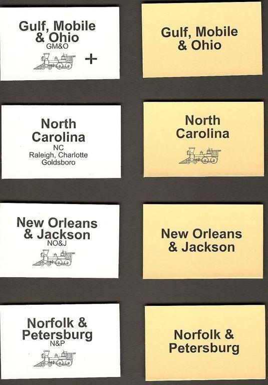 Gulf, Mobile & Ohio cards