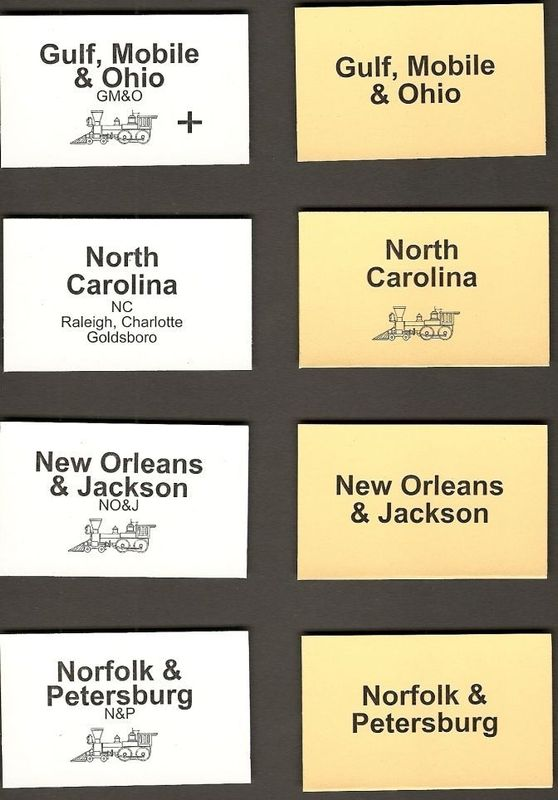 Gulf, Mobile & Ohio cards
