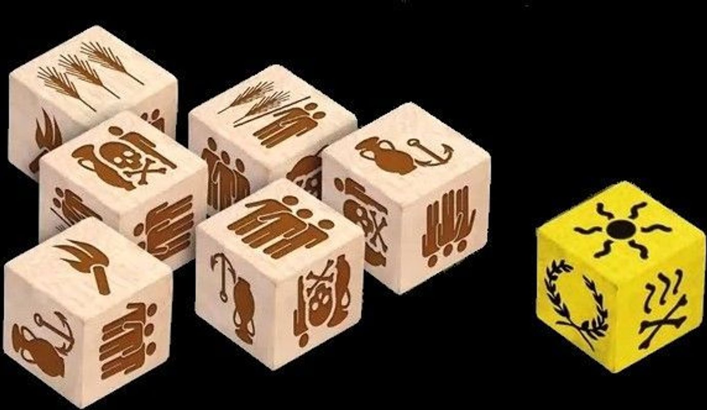 Roll Through the Ages: The Iron Age dice