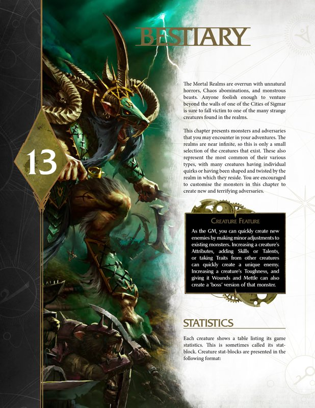 Warhammer Age of Sigmar Roleplay: Soulbound Bestiary