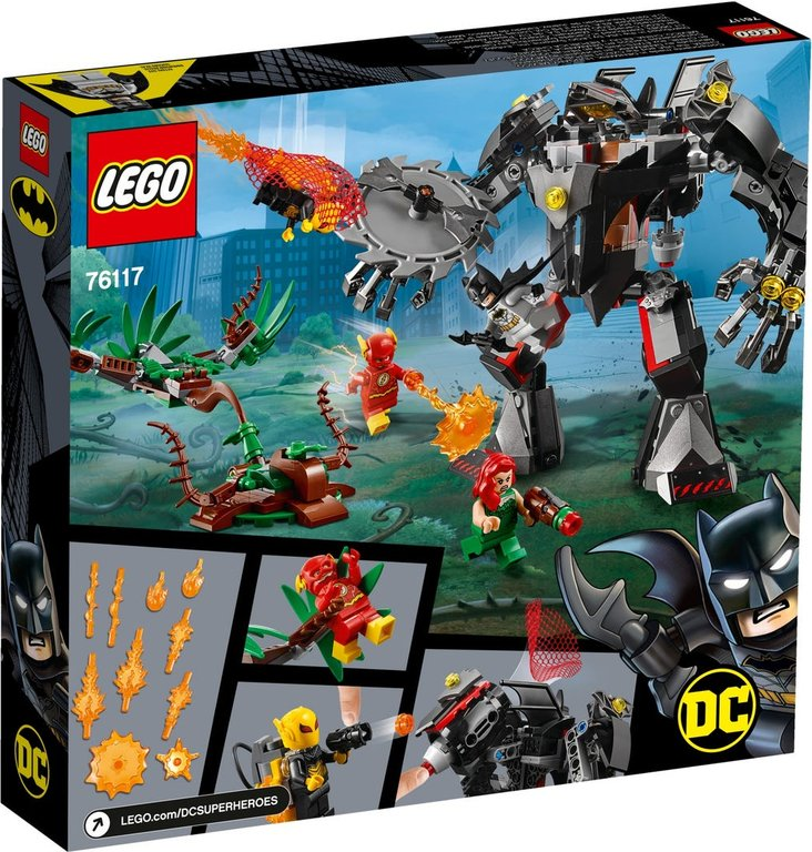 LEGO® DC Superheroes Batman™ Mech vs. Poison Ivy™ Mech back of the box