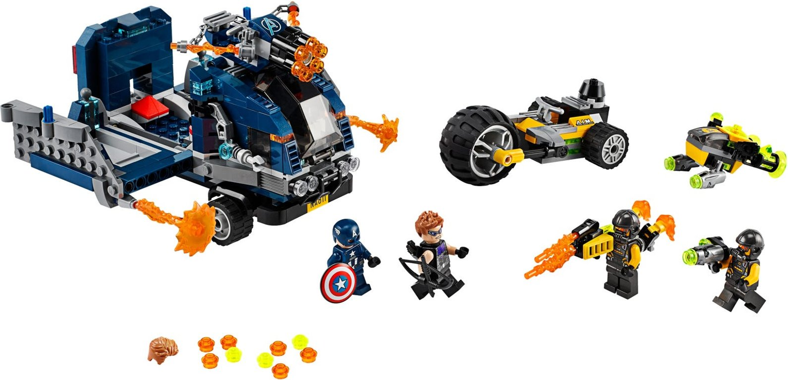 LEGO® Marvel Avengers Truck Take-down components