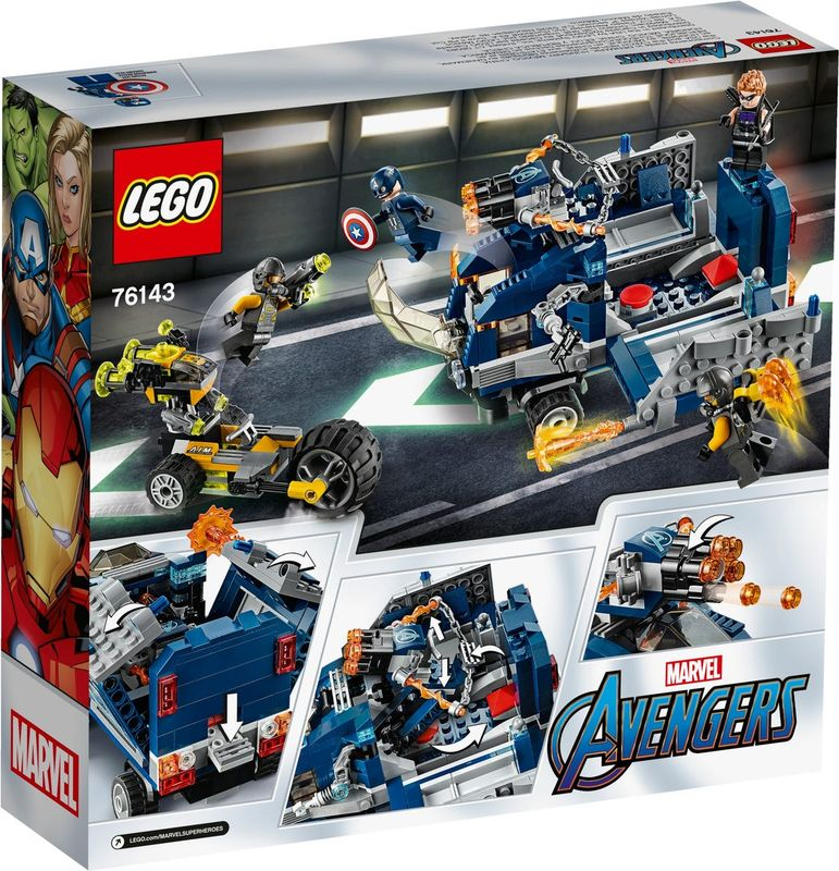 Avengers Truck Take-down back of the box