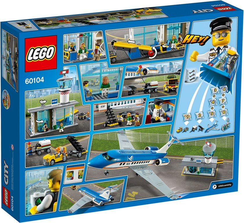 LEGO® City Airport Passenger Terminal back of the box