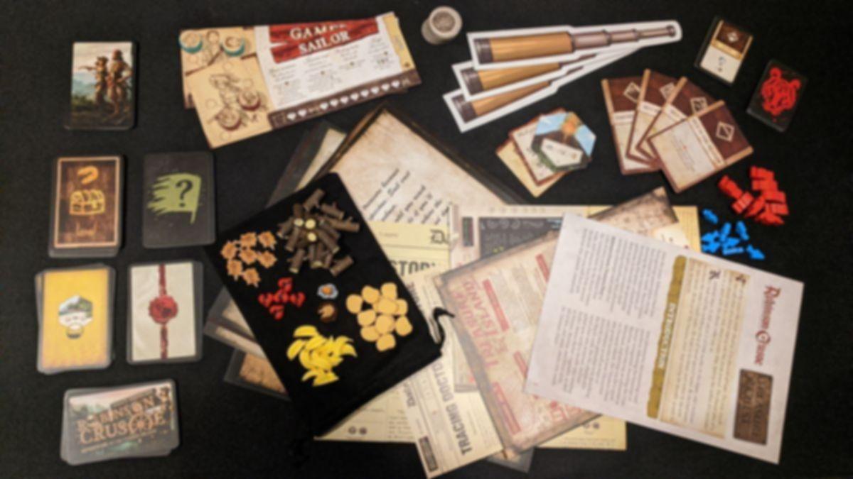 Robinson Crusoe: Adventures on the Cursed Island – Treasure Chest components