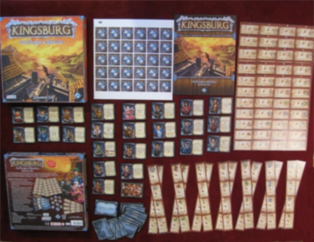 Kingsburg: To Forge a Realm components