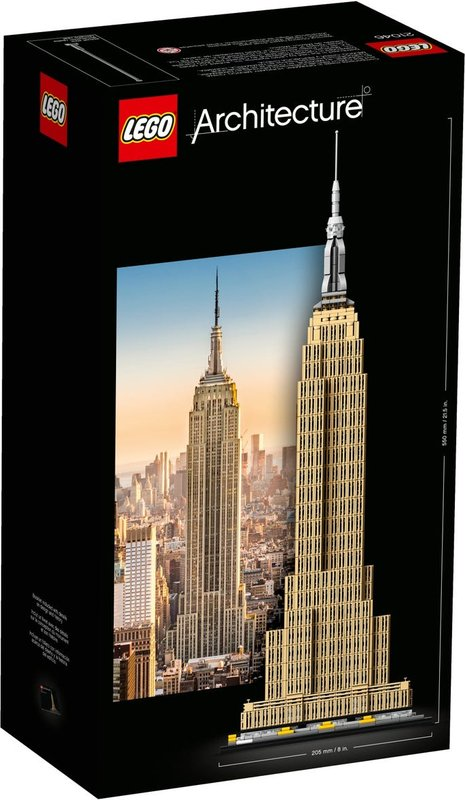 Empire State Building back of the box