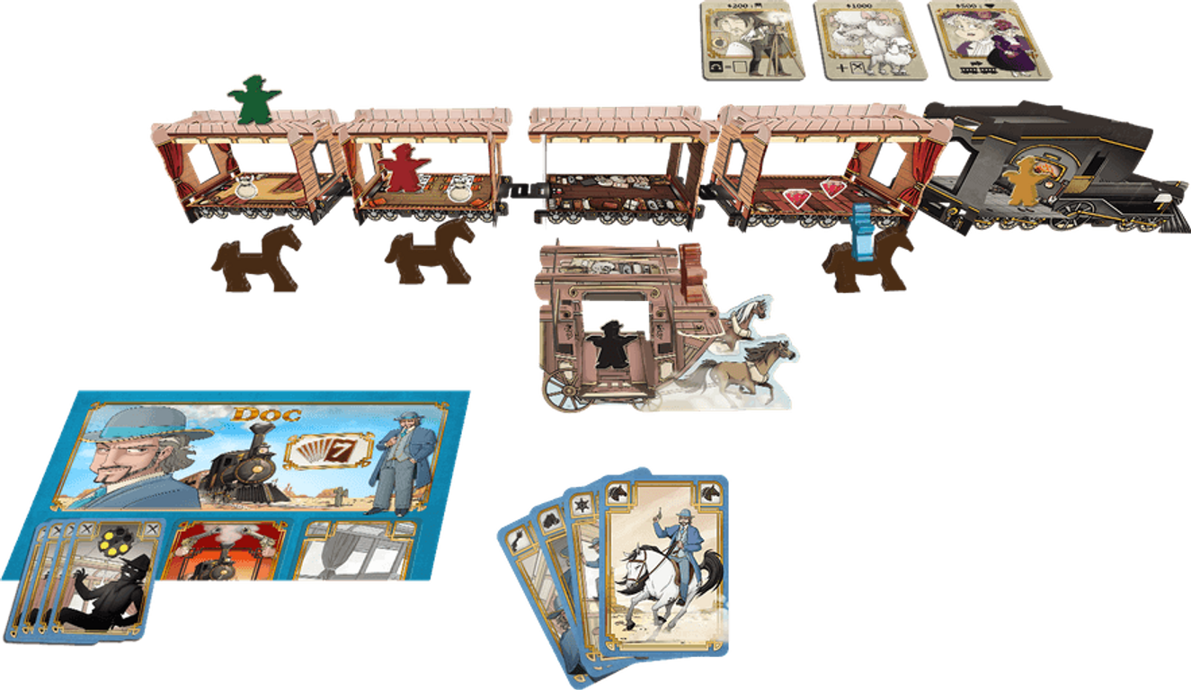 Colt Express: Horses & Stagecoach components
