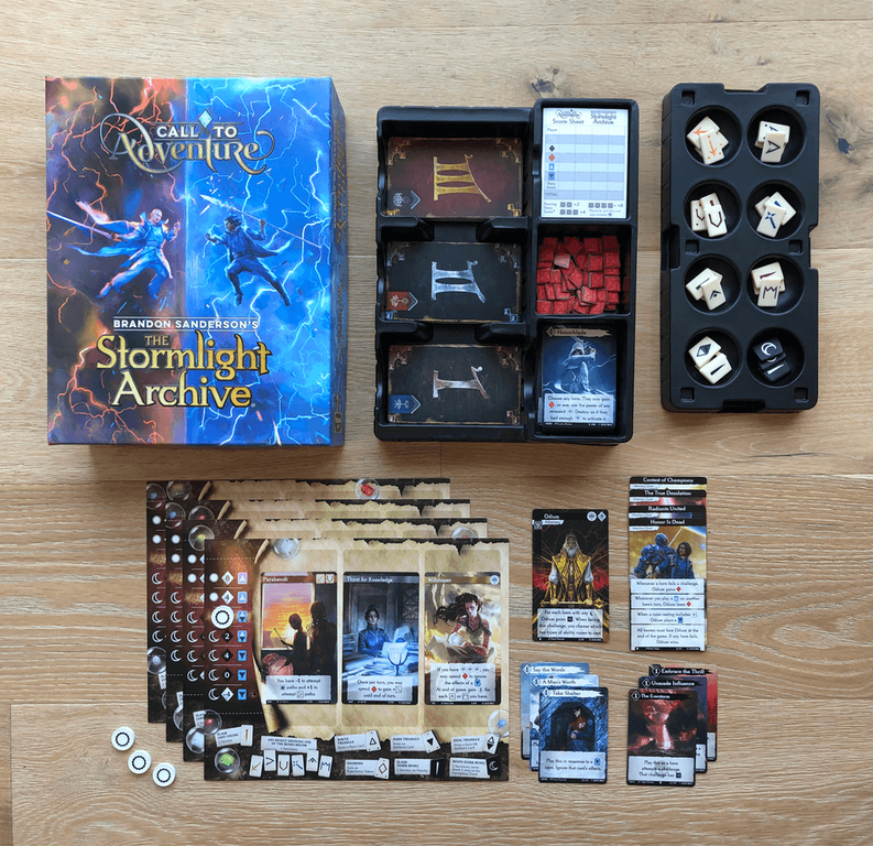 Call to Adventure: Stormlight components