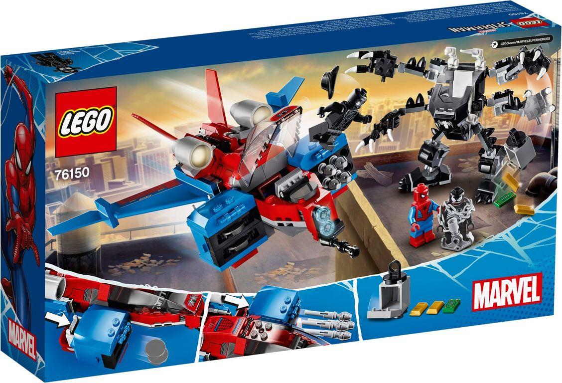 Spiderjet vs. Venom Mech back of the box