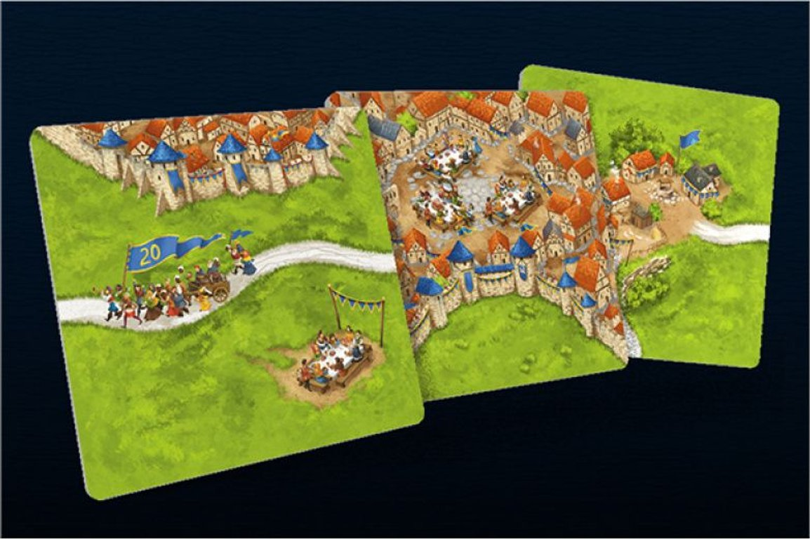 Carcassonne: 20th Anniversary Edition tiles