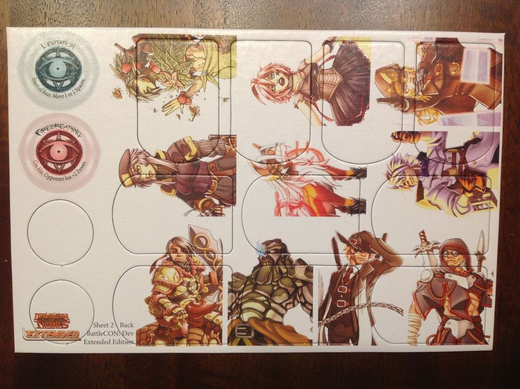 BattleCON: Devastation of Indines Extended Edition components