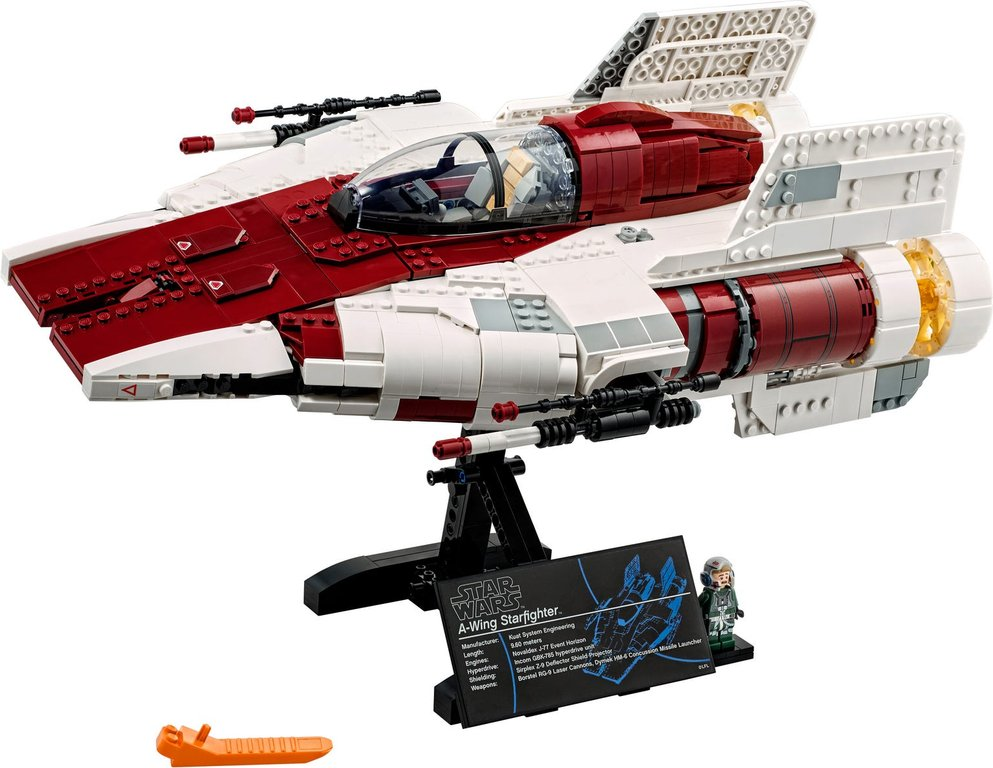 LEGO® Star Wars A-wing Starfighter™ components